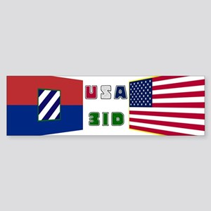 USA-3ID ver.2 Bumper Sticker