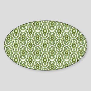 Retro Green Sticker (Oval)