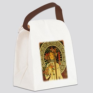 La Trappistine by Alfons Mucha Canvas Lunch Bag