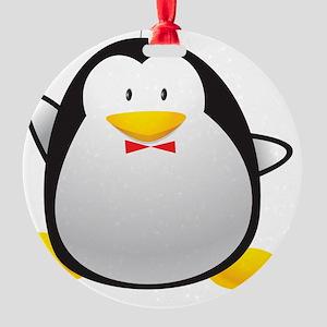Tuxedo Penguin Round Ornament