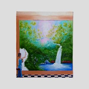 The Artist Shower Curtain Throw Blanket