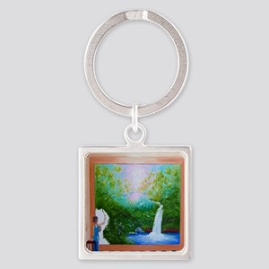 The Artist Shower Curtain Square Keychain