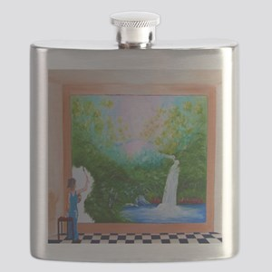 The Artist Shower Curtain Flask