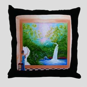 The Artist Shower Curtain Throw Pillow