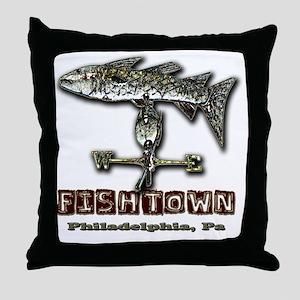 Philadelphia Fishtown Souvenir Gift I Throw Pillow