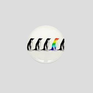 Rainbow Penguin Mini Button