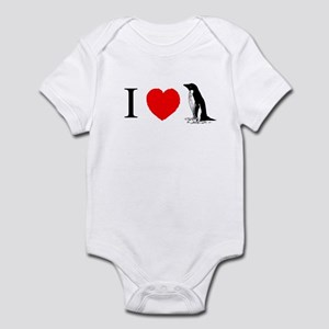 I Heart Penguins Infant Bodysuit