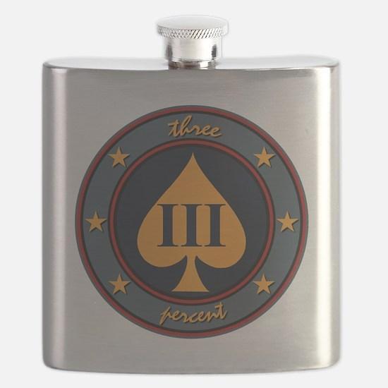 Three Percent Spade Flask