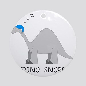 Dino Snore Round Ornament