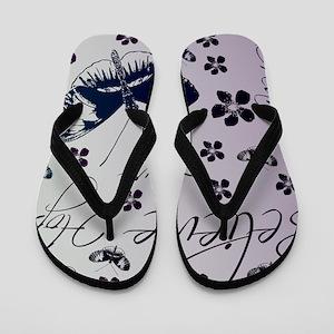 Inspirational Butterflies and Flowers Flip Flops