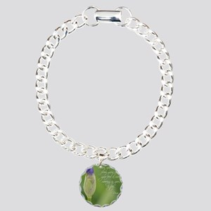 Iris with Rumi Quote Charm Bracelet, One Charm