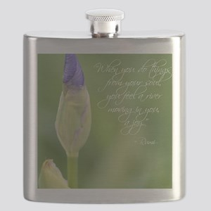 Iris with Rumi Quote Flask
