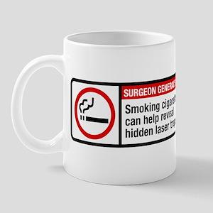 smoking reveals hidden laser traps Mug