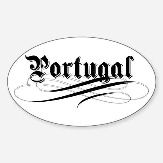 Portugal Gothic Oval Decal
