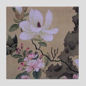 Magnolia and Erect Rock Tile Coaster