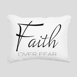 Faith over Fear Rectangular Canvas Pillow