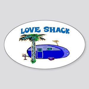 LOVE SHACK Sticker (Oval)