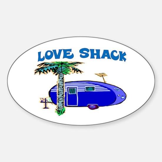 LOVE SHACK Sticker (Oval)