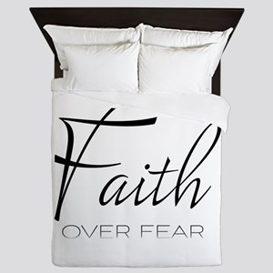 Faith over Fear Queen Duvet