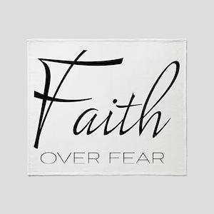 Faith over Fear Throw Blanket