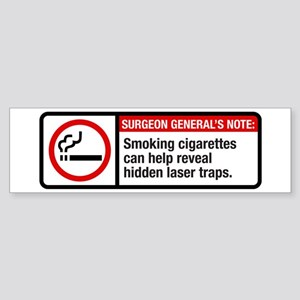 smoking reveals hidden laser traps Sticker (Bumper