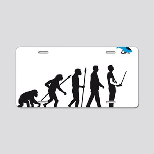 evolution of man with model Aluminum License Plate