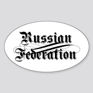 Russian Federation Gothic Oval Sticker