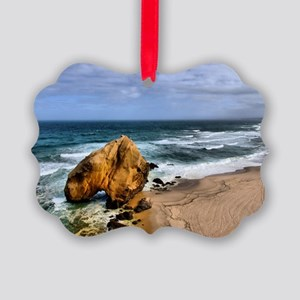 Santa Cruz Beach in Portugal Picture Ornament