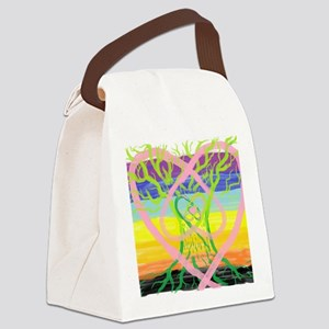 Earth, Oak, Sky Healing Canvas Lunch Bag