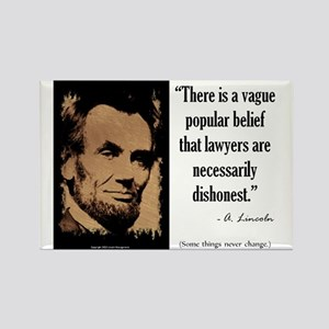 Lawyers are Necessarily Dishonest Rectangle Magnet