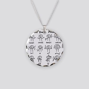 Beautiful (math) dance moves Necklace Circle Charm