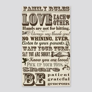 Family Rules 3'x5' Area Rug