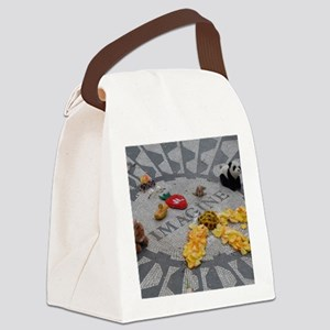 Imagine Strawberry Fields NYC Canvas Lunch Bag
