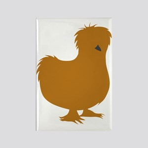 Silkie Chicken (buff) Rectangle Magnet