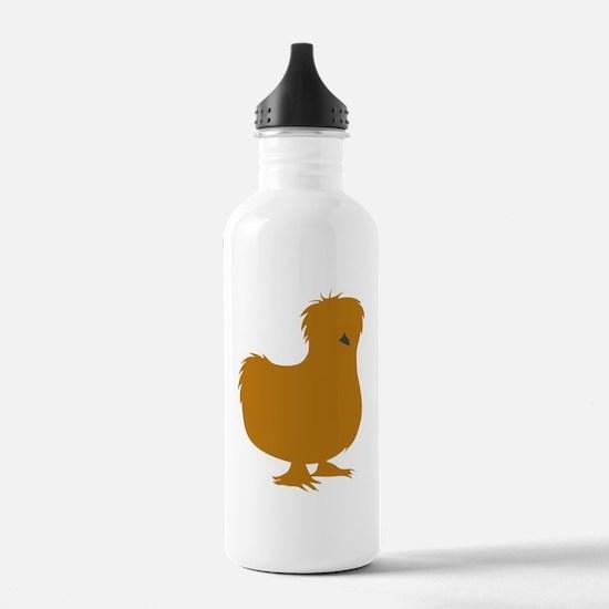 Silkie Chicken (buff) Water Bottle