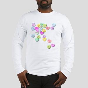 Conversation Hearts T Shirt Long Sleeve T-Shirt