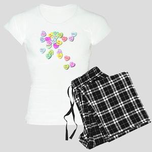 Conversation Hearts T Shirt Women's Light Pajamas