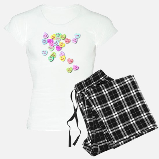 Conversation Hearts T Shirt Pajamas