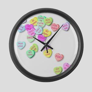 Conversation Hearts T Shirt Large Wall Clock