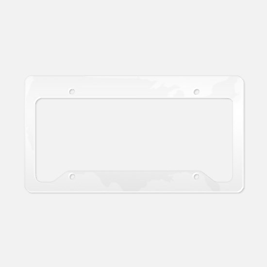 White USA License Plate Holder