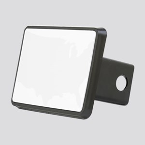 White USA Rectangular Hitch Cover