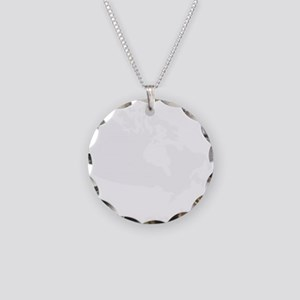 Strong and Free Necklace Circle Charm