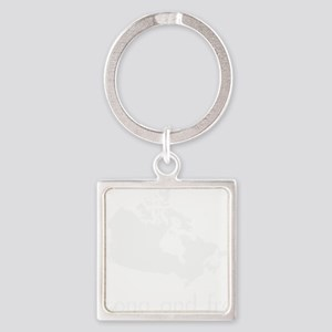 Strong and Free Square Keychain