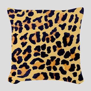 Cheetah Print Woven Throw Pillow