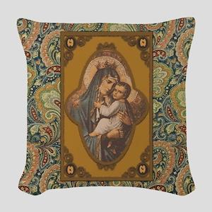 Queen of Heaven Woven Throw Pillow