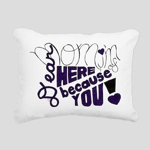 Dear Mom Rectangular Canvas Pillow