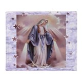 Virgin mary Fleece Blankets
