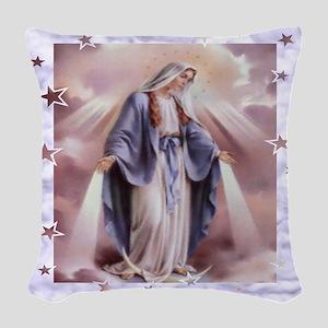 Ave Maria Woven Throw Pillow