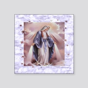 "Ave Maria Square Sticker 3"" x 3"""