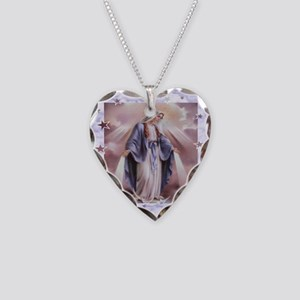Ave Maria Necklace Heart Charm